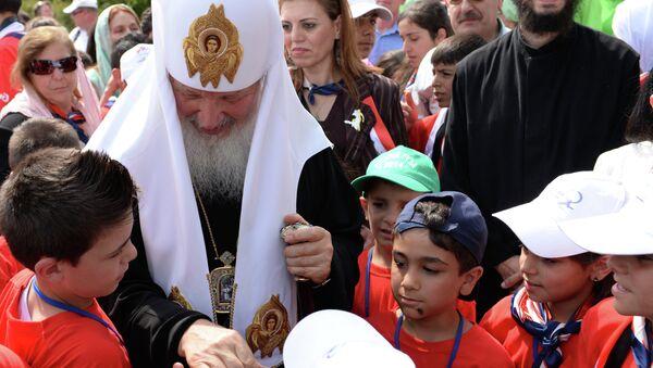 Патриарх Кирилл совершил божественную литургию в день памяти Серафима Саровского