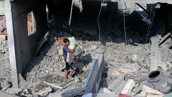 Рафаха после обстреле Израилем. Архивное фото