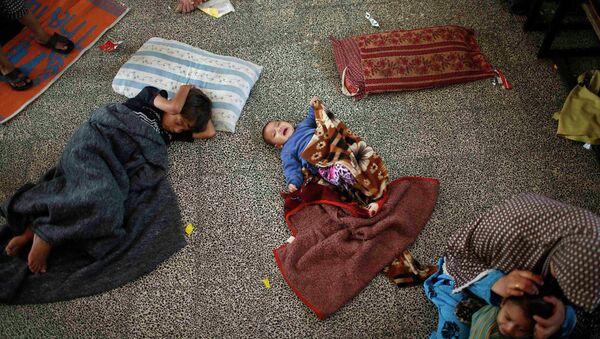 Палестинские дети в лагере беженцев в секторе Газа