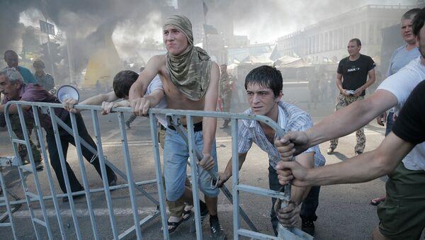 Митингующие на площади Независимости в Киеве. Архивное фото