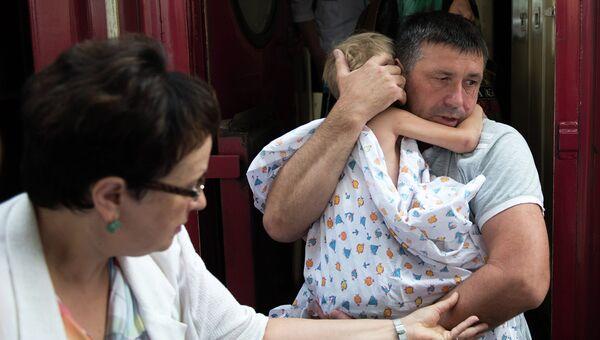 Дети с востока Украины, архивное фото