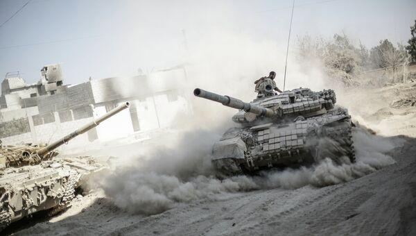 Военнослужащие сирийской армии в пригороде Дамаска Джоббар. Архивное фото