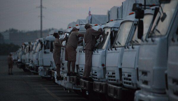 Водители грузовых машин. Архивное фото