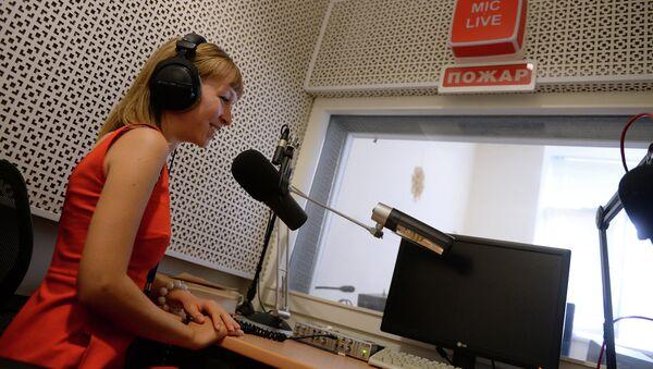 Работа радиостанции Голос России, архивное фото