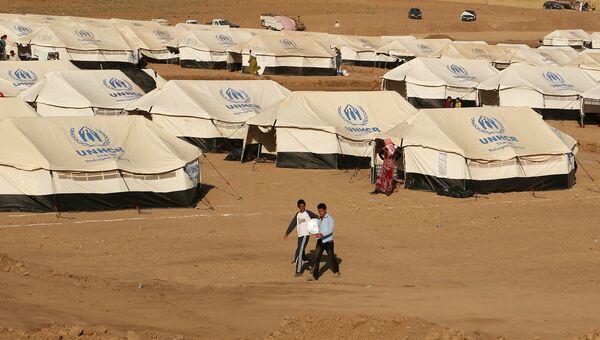 Лагерь для беженцев Ираке. Архивное фото