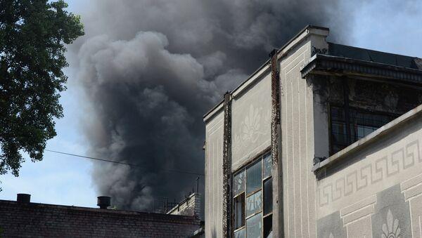 Пожар в инструментальном цехе завода Точмаш