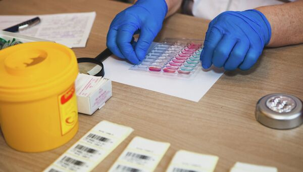 Прием донорской крови. Архивное фото.