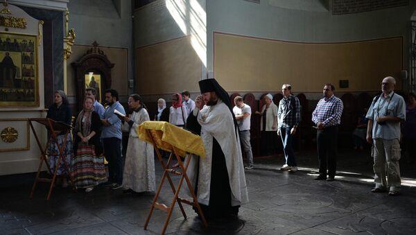 Молебен о здравии Андрея Стенина
