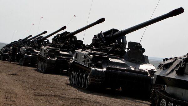 Самоходные артиллерийские батареи Сухопутных войск РФ. Архивное фото