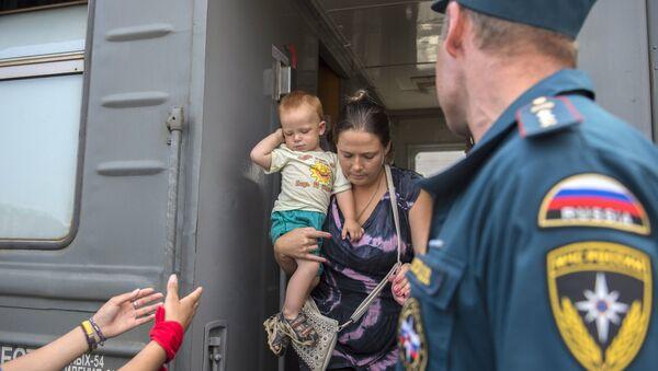 Беженцы из Украины, архивное фото