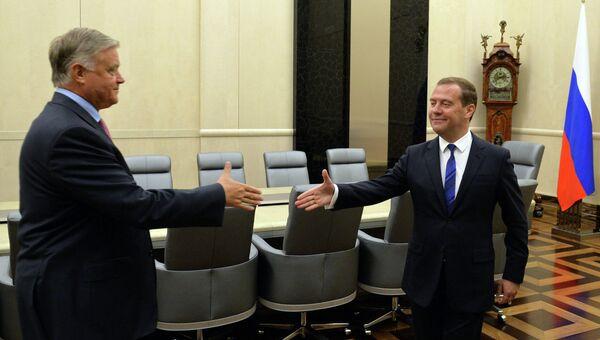 Рабочая встреча Д.Медведева с В.Якуниным