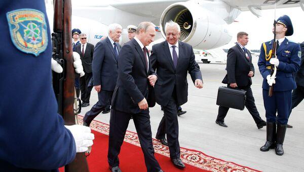 Президент России Владимир Путин прибыл в Минск