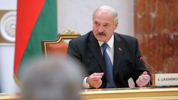 Президент Белоруссии Александр Лукашенко во время встречи глав государств Таможенного союза с президентом Украины и представителями Европейской комиссии