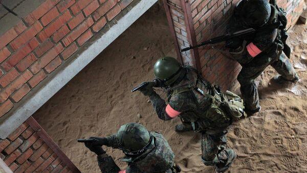 Военнослужащие антитеррористического подразделения внутренних войск МВД РФ. Архивное фото