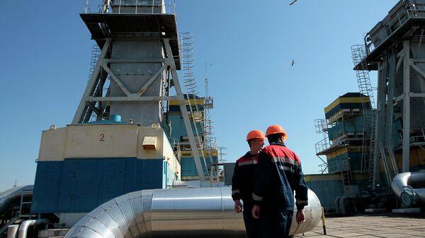 Рабочие станции газопровода возле Ужгорода, Украина. Архивное фото