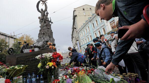 В Москве прошла акция памяти жертв теракта в Беслане