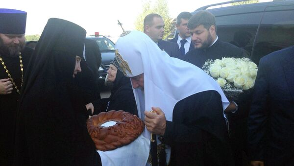 Патриарх Кирилл в Пскове
