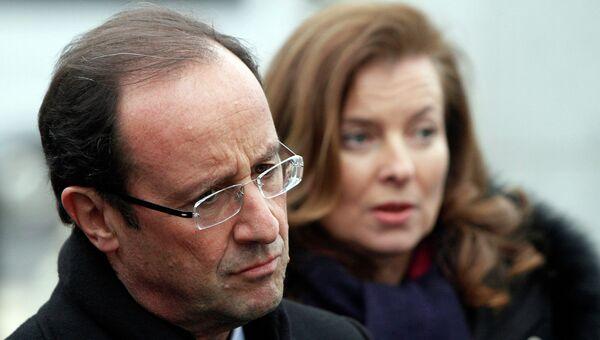 Франсуа Олланд и Валери Триервейлер. Архивное фото