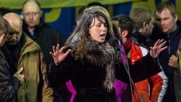 Журналистка и общественная активистка Татьяна Чорновол. Архивное фото