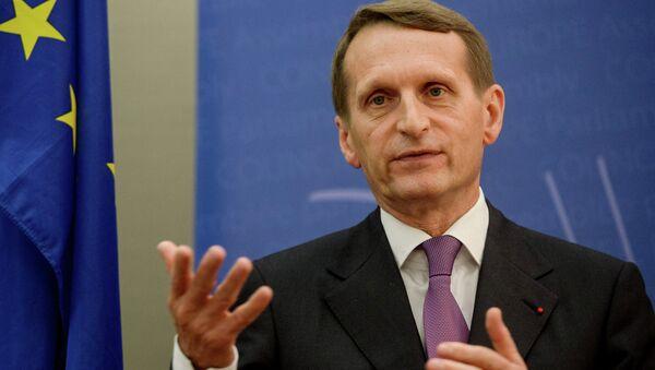 Председатель Государственной Думы Федерального Собрания Российской Федерации Сергей Нарышкин. Архивное фото