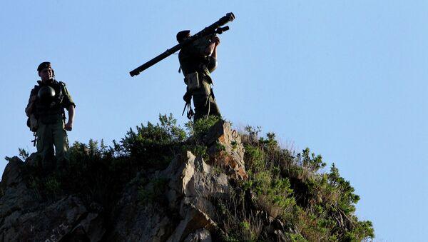Военнослужащие во время проверки боевой готовности войск Восточного военного округа.