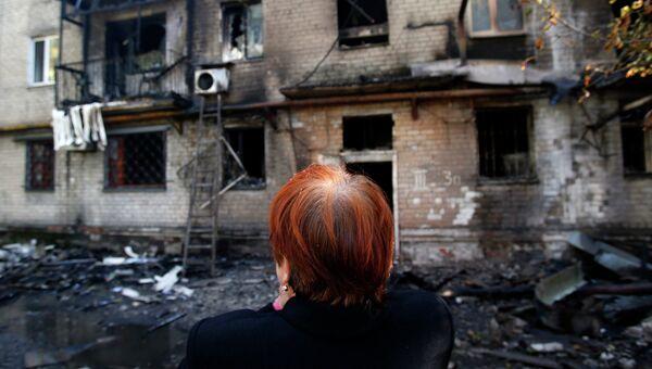 Результат обстрела Донецка. Архивное фото