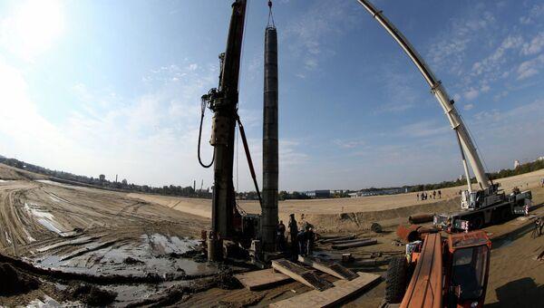 Начало строительства стадиона Арена Балтика в Калининграде