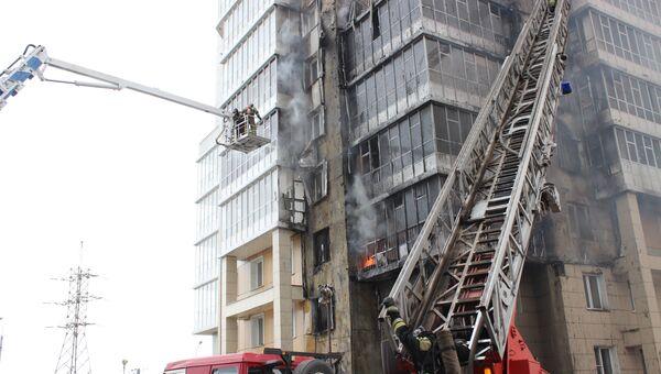 Пожар в жилом доме в Красноярске