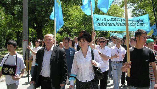 Шествие колон в День депортации крымских татар  18 мая