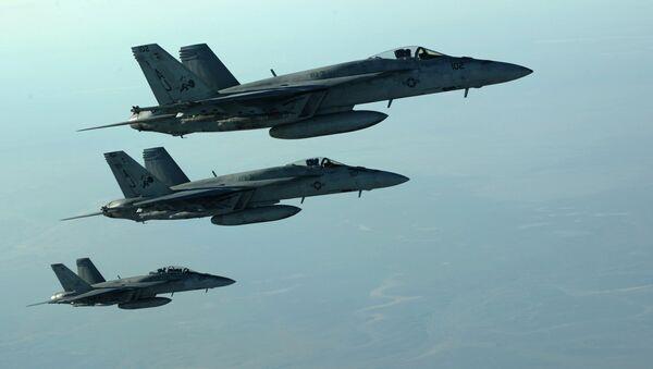 Самолеты ВВС США на севере Сирии. Архивное фото.
