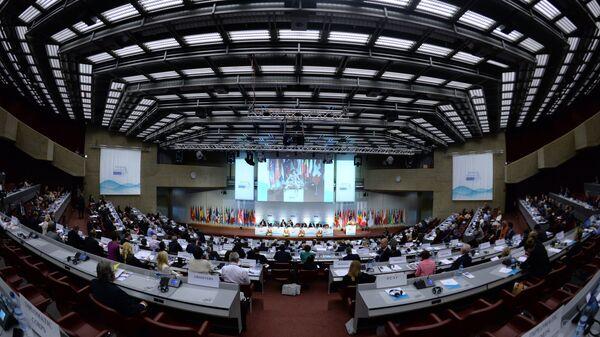 На открытии осенней сессии Парламентской ассамблеи Организации по безопасности и сотрудничеству в Европе. Архивное фото