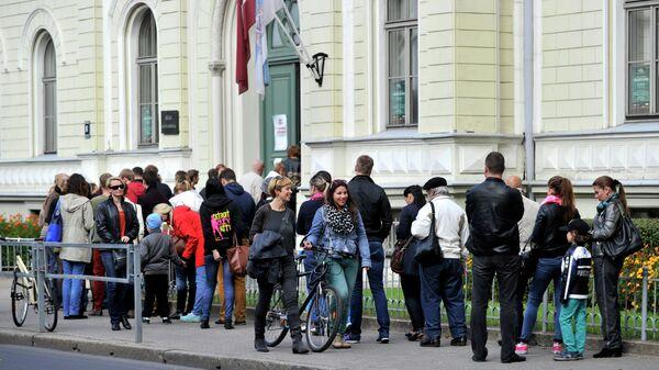 Голосование на выборах в Латвии. Архивное фото