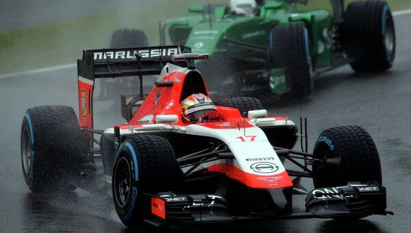 Машина Жюля Бьянки, попавшего в аварию на Гран-при Формулы-1 в Японии