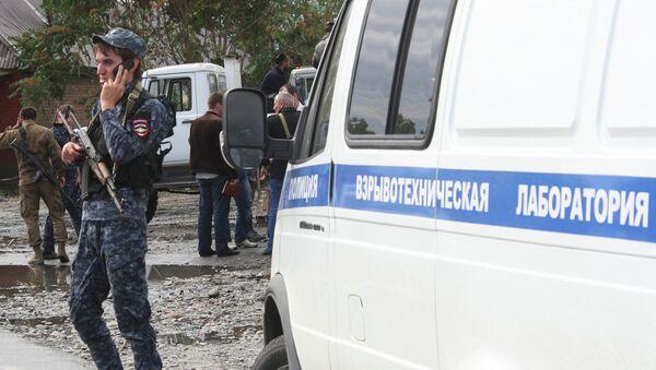 Полицейские на месте взрыва