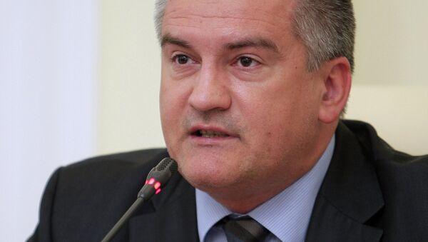 Глава правительства Республики Крым Сергей Аксенов