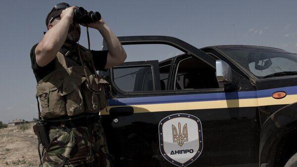 Боец батальона Днепр