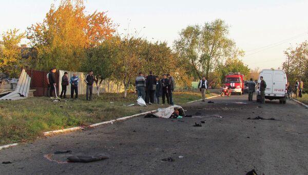 Последствия обстрела поселка Сартана, Мариуполь 14 октября 2014