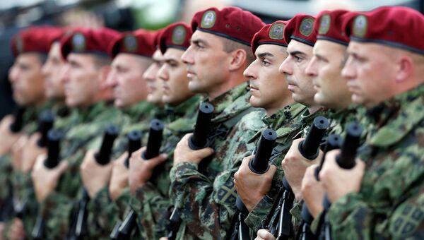 Солдаты сербской армии. Архивное фото