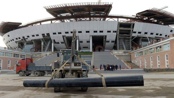Строительство стадиона Зенит-Арена в Санкт-Петербурге. Архивное фото