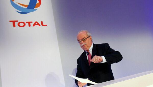 Кристоф де Маржери, генеральный директор французской нефтяной и газовой компании Total SA. Архивное фото.