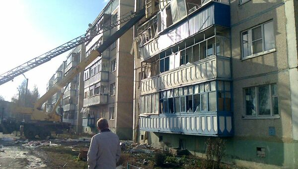 На месте взрыва бытового газа в городе Данков Липецкой области