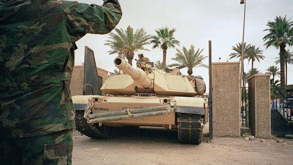 Американские танки в Багдаде. Архивное фото