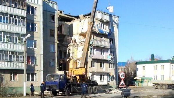 Обрушение дома в городе Данкове Липецкой области