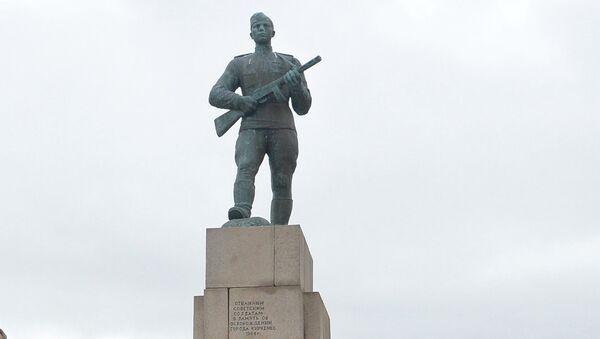 Мемориал Советскому воину-освободителю в норвежском Киркенесе. Архивное фото
