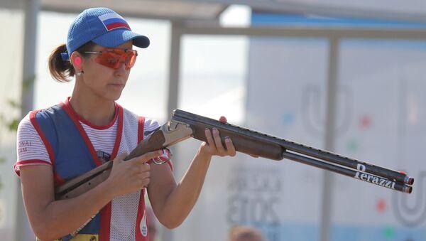 Альбина Шакирова. Стендовая стрельба. Архивное фото