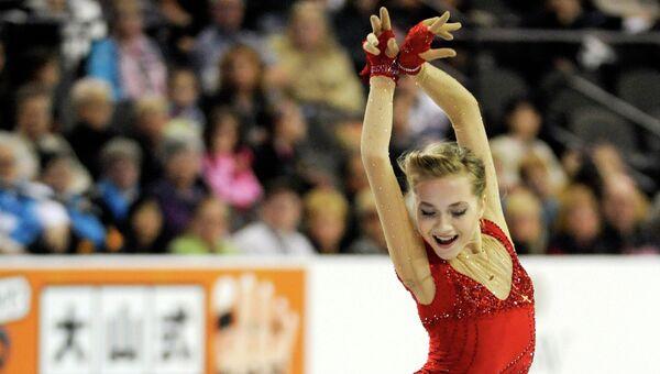 Российская фигуристка Елена Радионова в короткой программе на Skate America