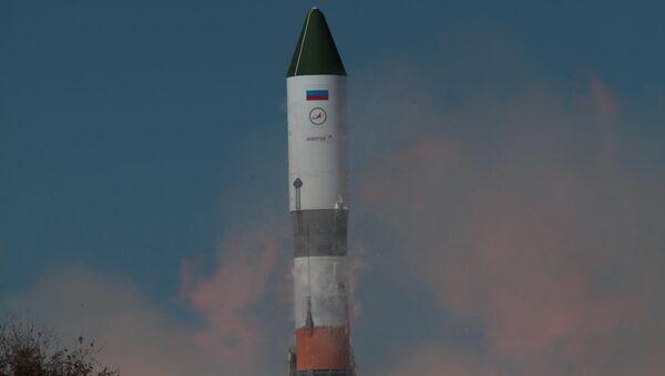 Пуск ракеты-носителя Союз 2.1а с транспортным грузовым кораблем Прогресс М-25М с космодрома Байконур. Архивное фото