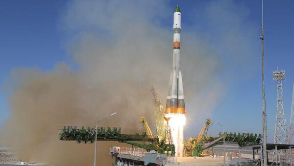 Пуск ракеты-носителя Союз 2.1. Архивное фото