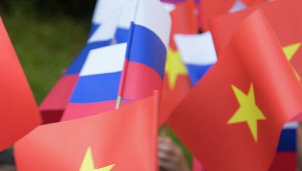 Флаги России и Вьетнама. Архивное фото