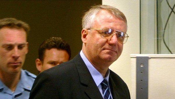 Лидер Сербской радикальной партии Воислав Шешель в Гаагском трибунале, архивное фото
